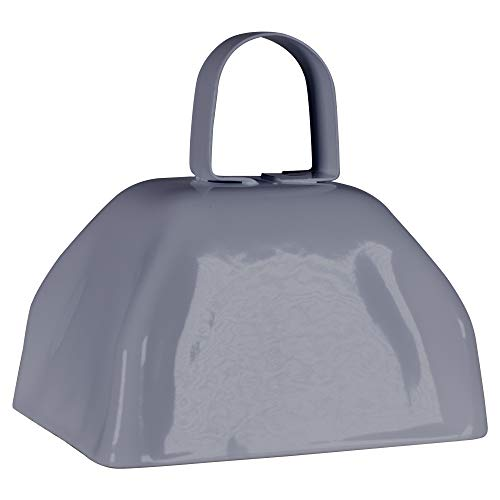 Metal Cowbells with Handles 3 inch Novelty Noise Maker - 12 Pack (Silver)]()