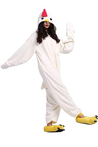 de cosplay Cock Traje de adultos animal Traje White para Unisex de pijama EO1xnq7BTw
