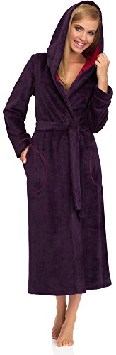Merry Style Mujer Albornoz 13010 Berenjena/Amaranto