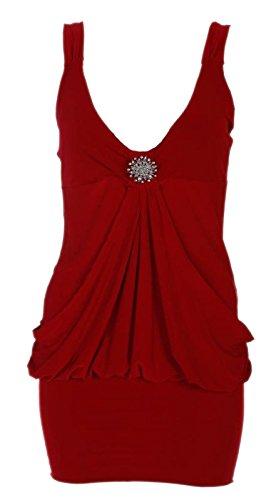 Xclusive Collection - Vestido - Básico - Sin mangas - para mujer Rosso