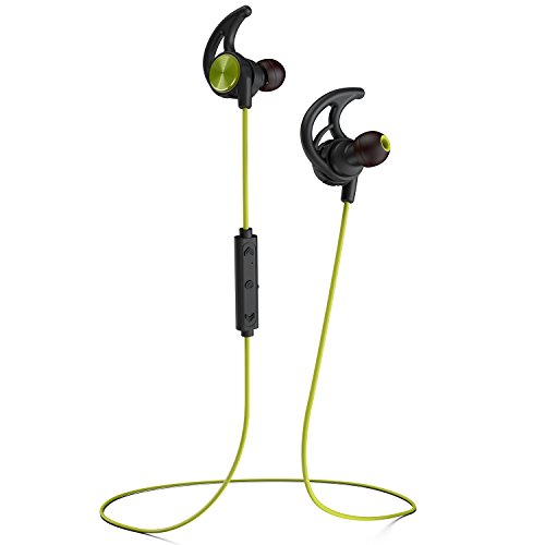Phaiser BHS-750 Bluetooth Headphones, Wireless Earbuds Magnetic Stereo Earphones for Running with Mic and Lifetime Sweatproof Guarantee, Limegreen