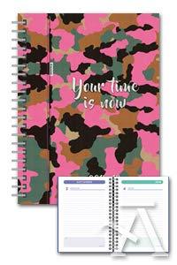 agenda escolar espiral 18/19 8º dp katacrak camuflaje rosa
