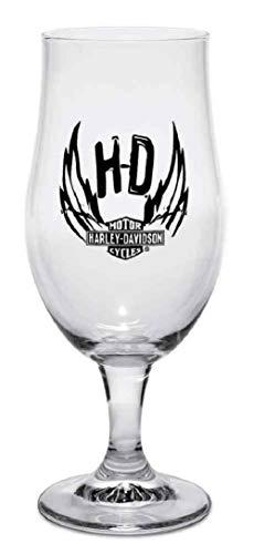 - Harley-Davidson Winged Bar & Shield Munique Footed Beer Glass, 16.5 oz 96806-17V