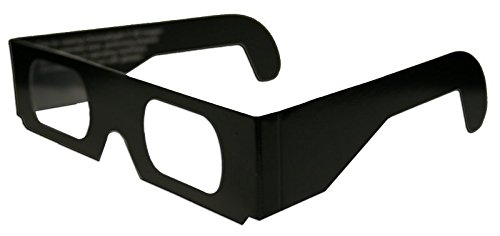 ChromaDepth 10 3D Paper glasses, STD, Black Frames