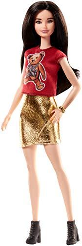 Barbie Fashionistas Doll Teddy Bear Flair (Barbie Doll Black Hair)