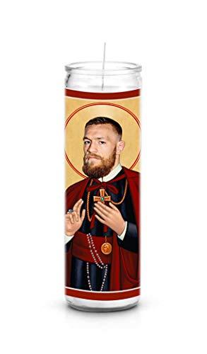 Celebrity Prayer Candles Conor McGregor Funny Saint Candle - 8 inch Glass Prayer Votive - 100% Handmade in USA - Novelty Celebrity - Tattoo Prayer