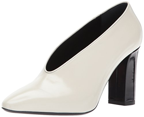 Spiga Via Leather Pump Bone Block Heel Women's Baran UOqwRdO