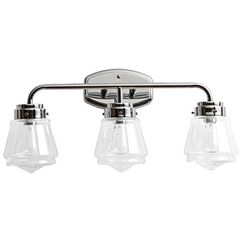 Stone & Beam Vintage Bathroom Vanity Fixture With 3 Light Bulbs And -