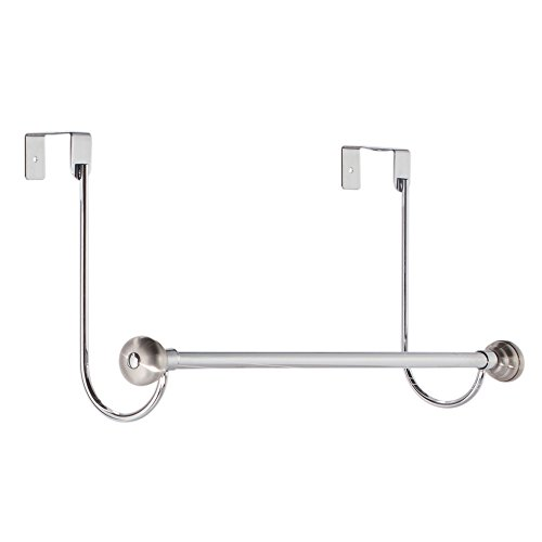 InterDesign York Over-the-Door Bath Towel Bar Holder Rack, C