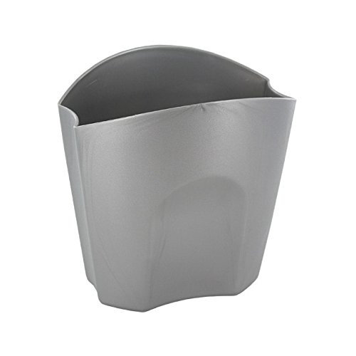 Rubbermaid Nesting Plastic Divided Pencil Cups Silver (Pack of ()