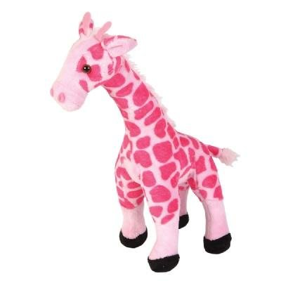 Smooth Pink Giraffe Stuffed Animal (11-inch) by Adventure ()