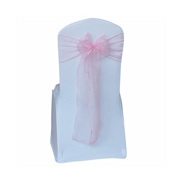 xbwwt Matrimonio Decorazione Organza della Sedia Farfallino in Event Party Supply Chair Sashes, Pink, 20 * 280cm 1 spesavip