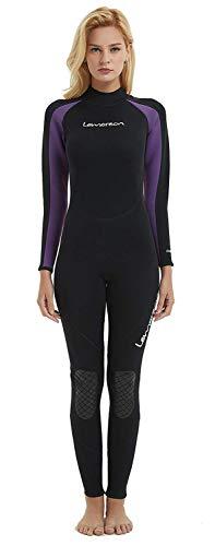 Lemorecn Women Wetsuits Neoprene 3/2mm Full Body Diving ()