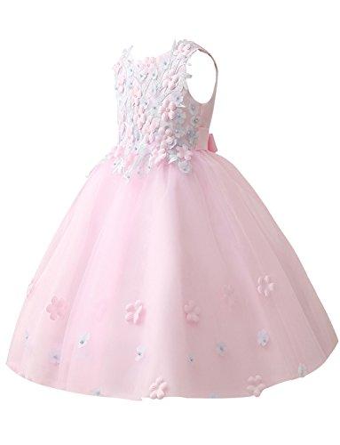 Perlen A Kleid Bestickt Linie Applique Geburtstagsfeier Erosebridal Blumenmädchenkleid q400vf