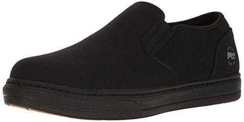 Timberland Mens Canvas - Timberland PRO Men's Disruptor Slip-On Alloy Safety Toe EH Industrial & Construction Shoe, Black Canvas, 10 W US