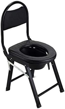 トイレ椅子 ポータブルトイレ 高齢者 医療箪笥ベッドサイド便器椅子ポータブルトイレブラック - 箪笥チェア折りたたみ