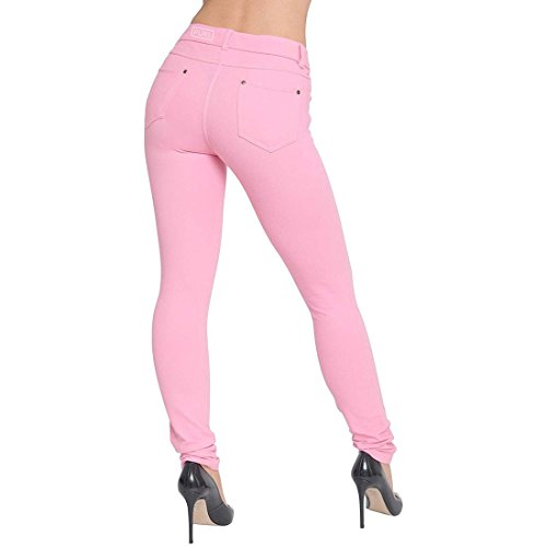 Women Ladies Plus Size Stretch Coloured Denim Blue Leggings Trousers Jeggings