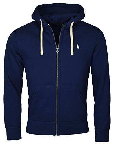 Polo Ralph Lauren Classic Full-Zip Fleece Hooded Sweatshirt - XXL - Navy