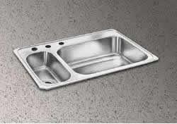 Elkay CMR33220 Gourmet Double Basin Drop-In Stainless Steel Kitchen Sink, 22-Inch x 33-Inch