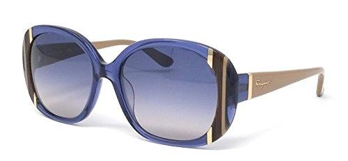 c671318acb Salvatore Ferragamo Sunglasses SF674S 424 Blue 55 17 135 - Buy Online in  Oman.