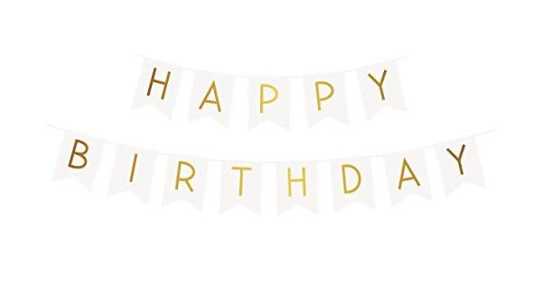 "Amazon.com: Banderines con texto ""Happy Birthday"" ..."