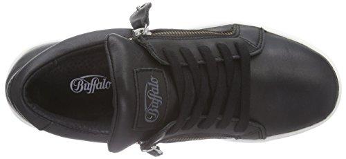 Buffalo 100-15 Nappa Damen Sneaker Schwarz (Black 01)