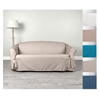 Amazon.com: Sure Fit algodón pato Loveseat Slipcover ...