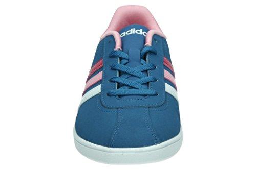adidas Unisex-Kinder Vlcourt K Turnschuhe, Blau (Azubas/Ftwbla/Rossua), 36 EU