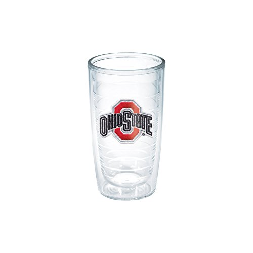 Collegiate 16 Ounce Tumblers - Tervis 1006797 Ohio State University Emblem Individual Tumbler, 16 oz, Clear