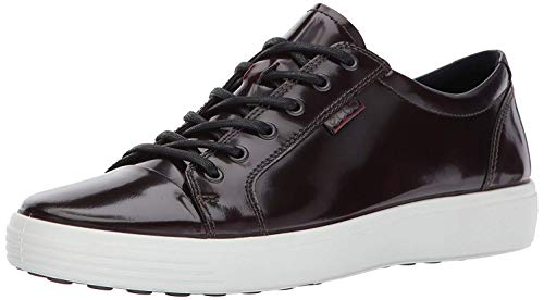 - ECCO Men's Soft 7 Premium Tie Fashion Sneaker, Bordeaux Patent, 43 M EU / 9-9.5 D(M) US