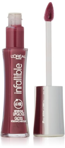 L'Oréal Paris Infallible 8 HR Pro Gloss, Undeniable Mauve, 0.21 fl. oz.