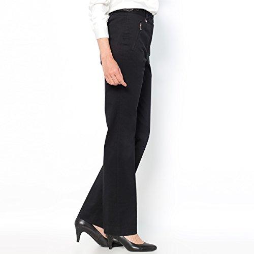 Donna Weyburn Pantaloni Cotone Di La Stretch Taglia 50 Collections Satin Nero Anne Redoute wq4fSTIA
