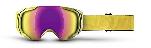 Adult Standard Goggles (K2 Photoantic DLX Ski Goggles, Yellow/Smoke Standard Red Tripic Mirror)