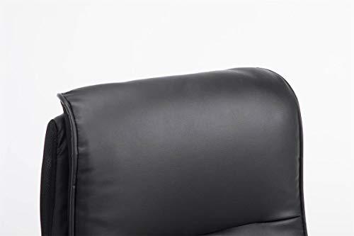 CLP Chaise De Bureau Villach XXL en Similicuir I Fauteuil De Travail Rembourré avec Accoudoirs Rabattables I Fauteuil…