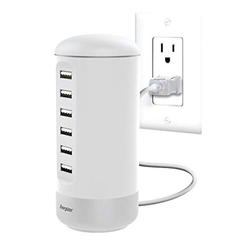 (Premier Energizer 6 USB Desktop Charging Station (Tower) - White)