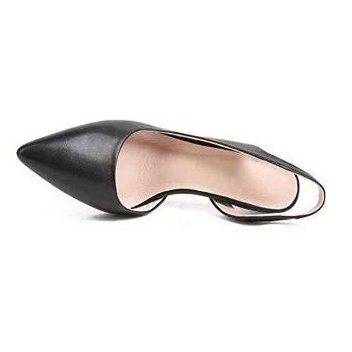 Noir Compensées 36 Noir 1TO9 Sandales EU Femme 5 MJS03528 gqFwWBUp