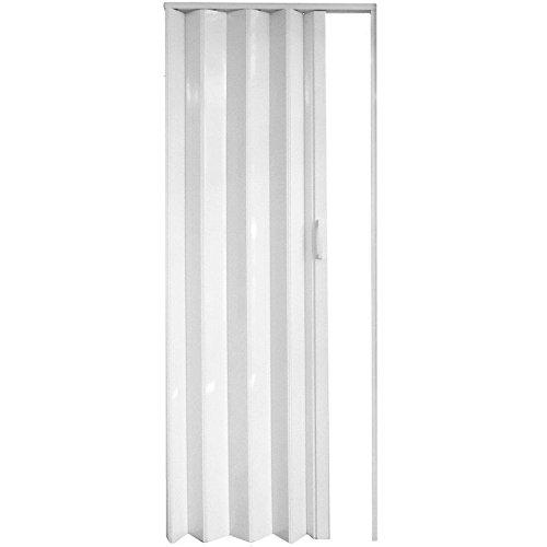 PVC Concertina Accordion Folding Door Magnetic Catch AMELIA White Gloss Kitchen
