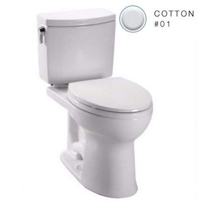 (Toto C454CUFG#01 Drake II Elongated Toilet Bowl with SanaGloss, Cotton, White)