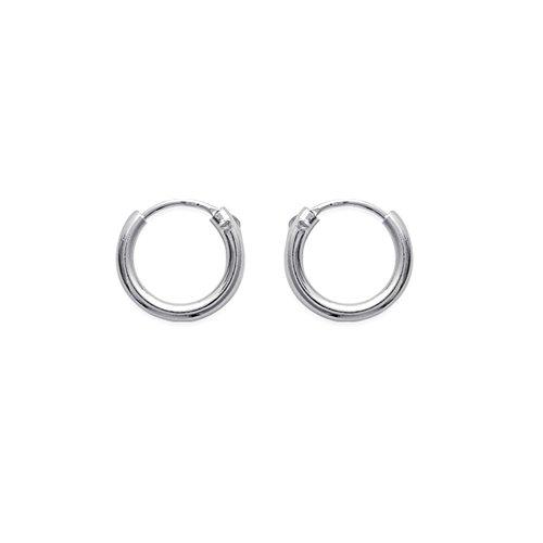 Tousmesbijoux Boucles d'oreilles créoles 12 mm Argent 925/00