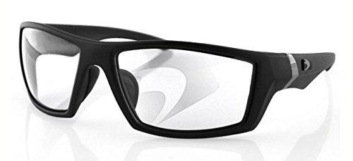 Bobster Whiskey Ballistic Sunglasses, Black Frame/Clear Anti-fog Lens by Bobster