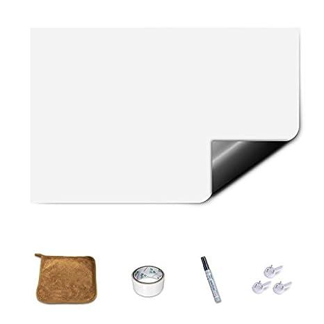 Magjoy pizarra magnética pegatinas, tablero blanco sin marco para nevera de pared Planificador diario niños