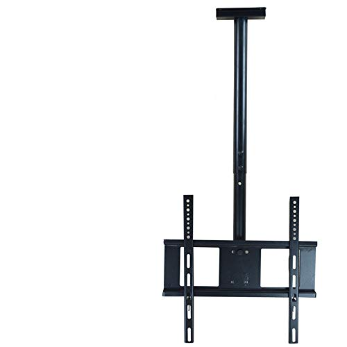 TV Ceiling Mount Bracket, Tilts, Swivels and Height Adjustable, Fits Most 32-60'' LCD LED Plasma Monitor Screen Display up to VESA 400x400 and 60kg Load Capacity