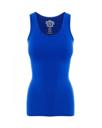 Sugar Lips Kid's Ribbed Seamless Tank Top-Cobalt (Ribbed Lips Sugar)