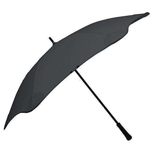 """BLUNT Classic Umbrella with 47"""" Canopy and Wind Resistant Radial Tensioning System - Black"""