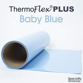Thermoflex Plus Heat Transfer Vinyl (HTV) Iron-on for Silhouette Cameo, Cricut, etc with a Free Tool (Baby Blue, 15