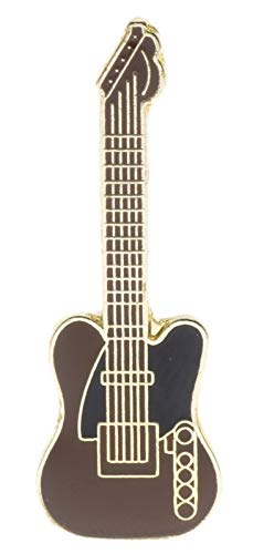 Brown Telecaster Classic Guitar Charm Gift Apparel Hat or Lapel Pin Ram1919D221