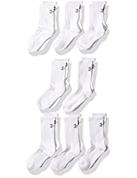 Under Armour Boys Charged Cotton 2.0 Crew Socks (8 Pack)