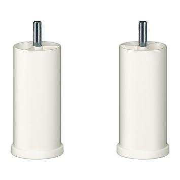 Ikea Besta Füße ikea besta bein rund weiß 2 pack 2 stück amazon de küche