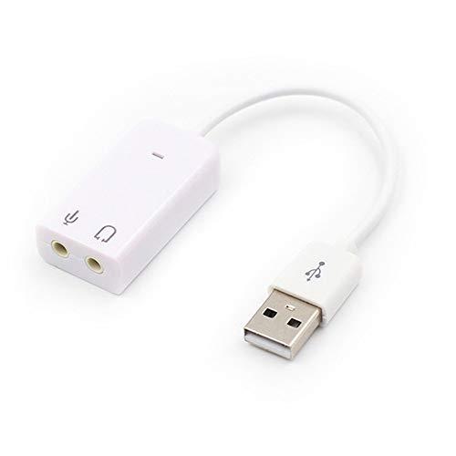 WUQIAN Tarjeta De Sonido USB Externa Adaptador De Tarjeta De ...