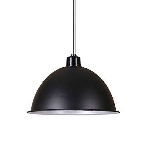BAYCHEER HL443107 Industrial Style 13.7 inch Hanging Lamp Pendant Lighting Celling Lamp Chandelie Light Fixture with Dome Metal Shade use 1 E26 Bulb (Starburst Sconce Shade)
